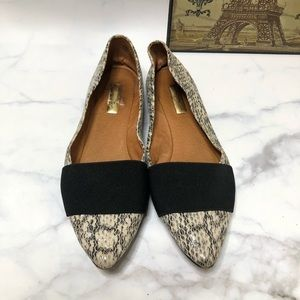 halogen animal printed pointy toe flats size 7.5